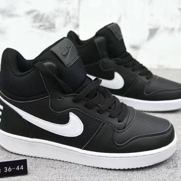 """Nike Court Borough Mid"" Unisex Sport Casual Fashion High Help Plate Shoes Couple Sneakers"