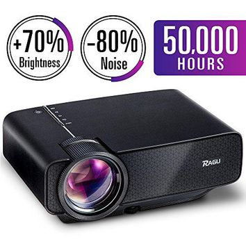 RAGU Z400 Mini Projector, Multimedia Home Theater Video Projector