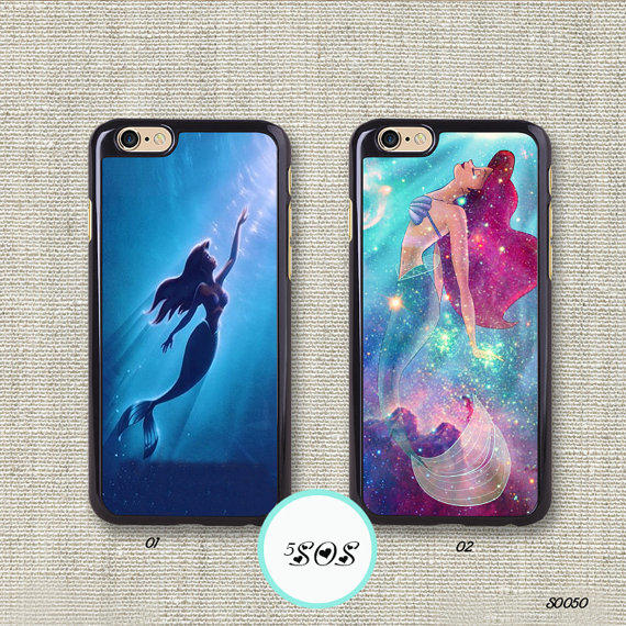 Resin The little mermaid iPhone 6 case from 5SOSDaisy on Etsy