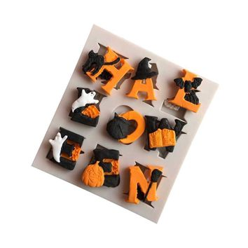 Halloween Party Sugar Silicone Mold Cake Decorating Tools Hat Pumpkin Witch Pastry Baking Polymer Clay Kitchen Bakeware