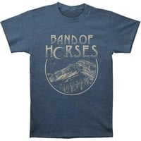 Band Of Horses Men's  Peak Mens Soft T Slim Fit T-shirt Heather Navy