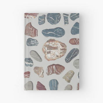 'Vintage Rocks' Hardcover Journal by bluespecsstudio