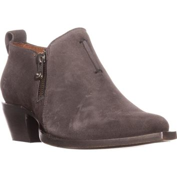 FRYE Sacha Moto Shootie Low Rise Ankle Boots, Smoke, 5.5 US