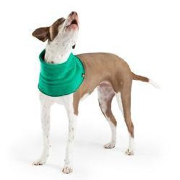 Gold Paw Dog Snood - Emerald Green/Black