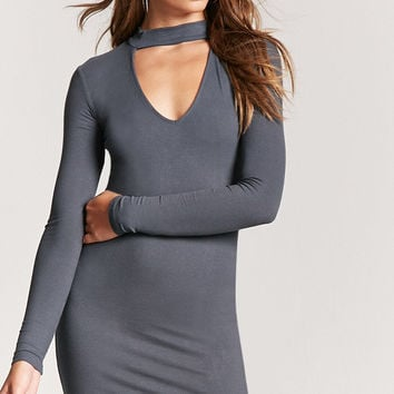 Cutout Ribbed Bodycon Dress
