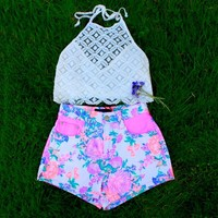 Electric Fields Shorts- Mink Pink- $61