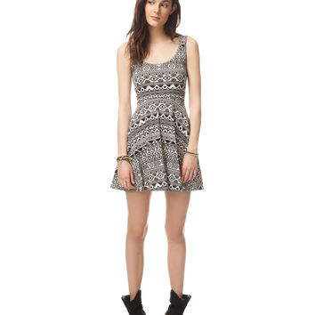 Aeropostale Womens Batik Print Dress - Black,