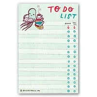 Reading Octopus To-Do List Notepad