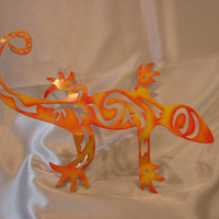 Indoor or Outdoor Metal Art Deco Lizard