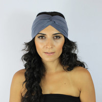 Gray Headband,Headband, Turban,Yoga Headband,Women's headband,Jersey Turban,Hair Band,Head Wrap,boho headband,turbans,twist headband