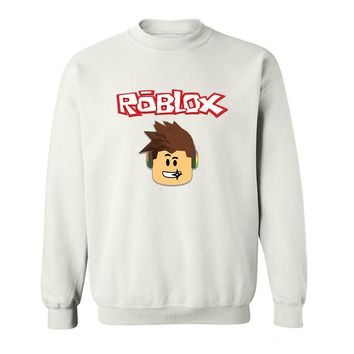 2017 New Arrive Funny Roblox Round Collar funny Hoodies Sweatshirts for men