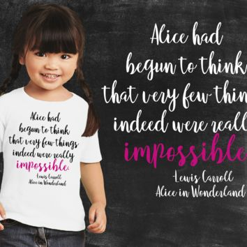 Impossible Alice In Wonderland Girls Graphic T-shirt