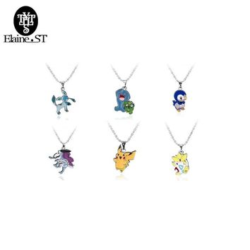 Go Cute Figure Choker Necklace & Pendants  Pokeball Necklace Pocket Monster Toy Collection GiftKawaii Pokemon go  AT_89_9