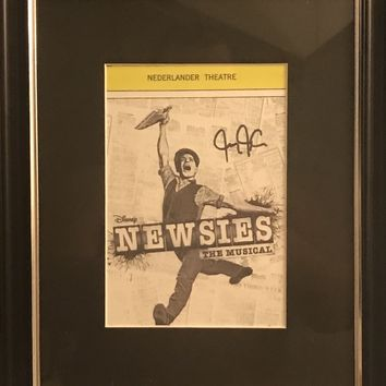 Disney's Newsies Playbill Framed Photo - Signed by Jeremy Jordan
