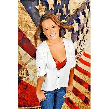 Grungy American Flag 3D Photography Backdrop - 1385