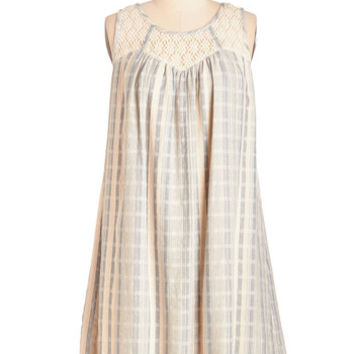 ModCloth Festival Mid-length Sleeveless Shift, Tent This Beach House is a Home Dress