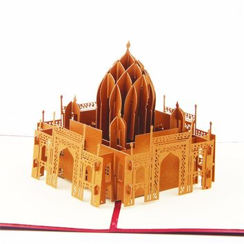 Valentines Day Cards Business Custom Available Vintage Handmade Taj Mahal 3D POP Up Greeting Cards