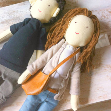 Handmade custom dolls made by photo, Couple, Personalized dolls, Anniversary gift, Birthday gift, Christmas gifts, Engagement present