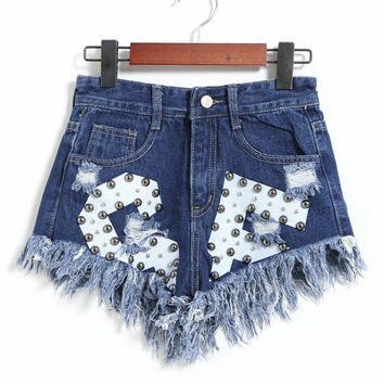 Loose High Waisted Short Jeans Casual Women Shorts Denim Shorts = 4824099204