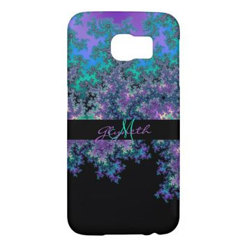 Personalized Teal Purple Gold Fractal S6 Case