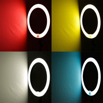 "Neewer® 4-Color Nylon Ring Flash Video Light Diffuser Set for Neewer 75W 18""Outer 14""Inner Ring Fluorescent Flash Light, Set Including: (1) Red Diffuser+ (1) Yellow Diffuser+ (1) Blue Diffuser+ (1) White Diffuser"