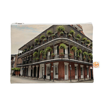 "Sylvia Cook ""New Orleans Street Corner"" Green Brown Everything Bag"