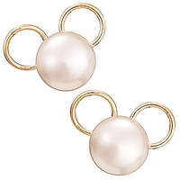 Disney Mickey Mouse Icon Earrings - Pearl | Disney Store