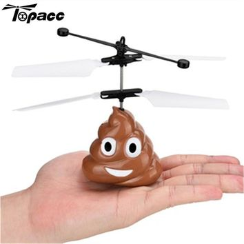 New Arrival Funny Electronic Flying Ball Infrared Sensor Emoji Poop Helicopter Kids Toys Gifts Best Deal RC Models Racing Drone
