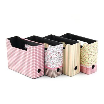 1pcs Cute Desk Decor Organizer Makeup Cosmetic Stationery DIY Paper Board Storage Box 15.6x5.6x13cm