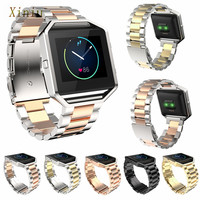 Stailess Steel Bracelet Strap Women Men Watch Band For Fitbit Blaze Rose Gold Band For Fitbit Blaze Watch Accessories