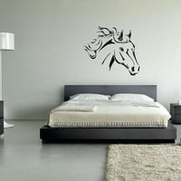 Wall Vinyl Sticker Decals Decor Art Bedroom Design Mural Horse Head (z067)