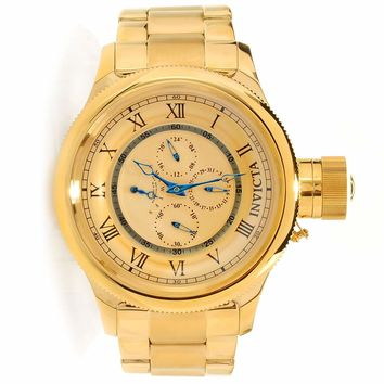 Invicta 15931 Men's Russian Diver Gold Dial Gold Plated Steel Bracelet Chronograph Watch