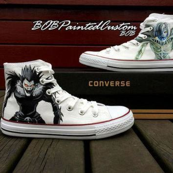 CREYONB Unisex Converse Anime Sneaker for Sale Hand Painted Custom Made High Top Fashion Sneak