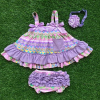 Baby Girl Outfit, Aztec, Lavender, Toddler Girl, Swing Top Set, Purple Ruffled Bloomers Children's Clothing Kid's Clothes Infant