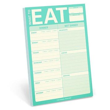 What to Eat Magnetic Meal Planning Pad in Mint Green