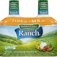 Hidden Valley Original Ranch Dressing, Two Count Bottle, 64 fl oz Total