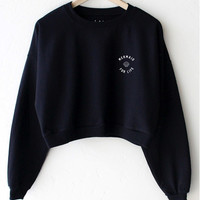 Mermaid For Life Cropped Sweatshirt