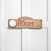 Personalized Kids Room Sign - Volleyball