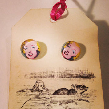 Marilyn Monroe Earrings by RabbitJewellery on Etsy