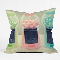 Lisa Argyropoulos Bubble Gum Throw Pillow