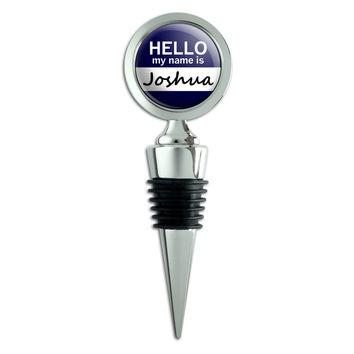 Joshua Hello My Name Is Wine Bottle Stopper