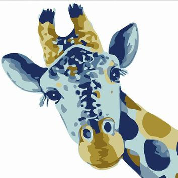 Giraffe DIY Paint Numbers Kit: Includes Acrylic Paints, Brushes and Canvas