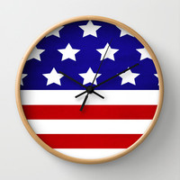 'Merica Wall Clock by Liv B