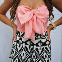 cute prints, pretty bow. chic summer outfit ♥ | The Best