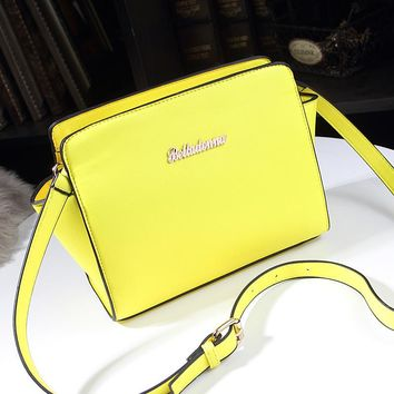 New Fashion Small Smile Shoulder Bags PU Leather