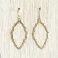 Tiny Gold Frame Earrings - Earrings