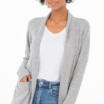 Brushed Rib Cardigan