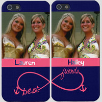 Photo Best Friends Infinity Iphone Cases (Two Case Set)