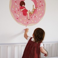 Small Donut Wall Decal by belleandboo on Etsy