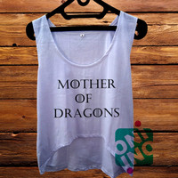 Mother of Dragons Game of Thrones crop tank Women's Cropped Tank Top